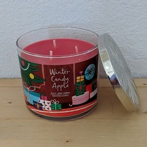 BATH & BODY WORKS Winter Candy Apple 3 Wick Candle